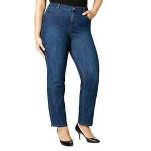 Women's Plus Straight Leg Tummy Control Jeans